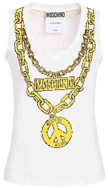 Moschino Women's x Sims Pixel Capsule Jewels Printed Tank Top