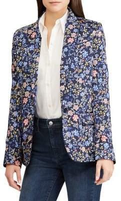 Lauren Ralph Lauren Floral-Print Slim-Fit Blazer