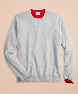 Brooks Brothers Cotton-Cashmere Reversible Sweater