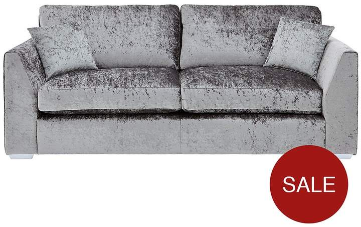 Ideal Home Shimmer 3-Seater Fabric Sofa