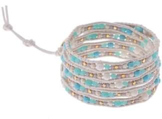 Nakamol Design Stone & Metal Wrap Bracelet