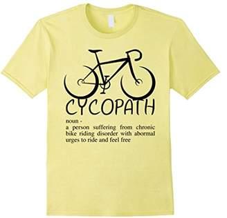 Funny Cycopath T-Shirt   Humor Bicycle Cyclist T-Shirt