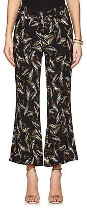 A.L.C. Women's Felix Palm-Leaf-Print Silk Pants