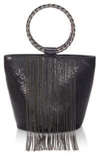 Whiting & Davis Bracelet Fringe Bucket Bag