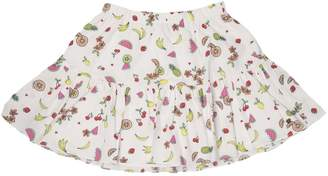 Juicy Couture Fruit Salad Print Poplin Skirt For Girls