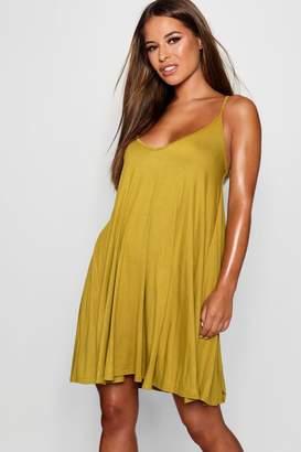 boohoo Petite Jersey Basic Swing Dress