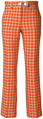 L'Autre Chose cropped plaid trousers