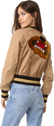 3.1 Phillip Lim Varsity Bomber Trench Jacket $795 thestylecure.com