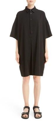 Women's Y's By Yohji Yamamoto O-Rib Shirtdress $755 thestylecure.com