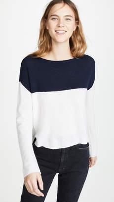 ATM Anthony Thomas Melillo Colorblock Cashmere Sweater