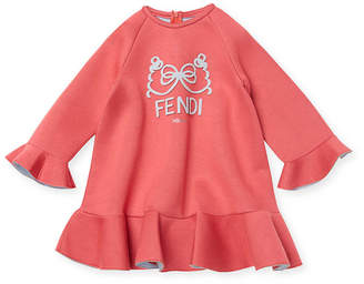 Fendi Solid Crewneck Dress