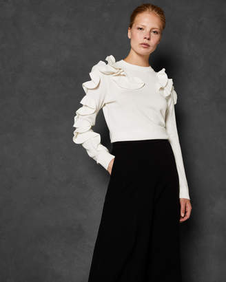 Ted Baker PALLEGE Frill sleeve and shoulder sweater