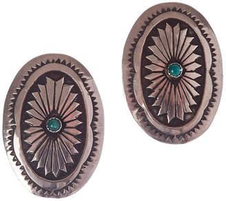 One Kings Lane Vintage Native American-Style Sterling Earrings - Treasure Trove NYC