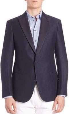 Giorgio Armani Silk-Lapel Wool & Linen Sportcoat