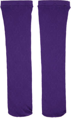 Gucci Purple GG Supreme Tights