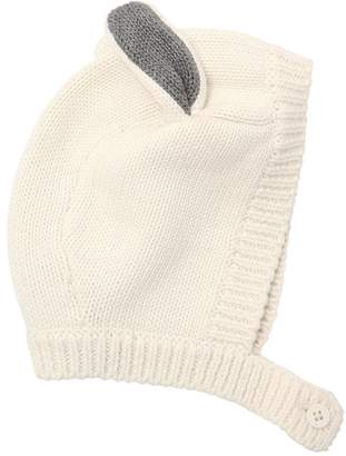 Stella McCartney Bunny Ears Cotton Blend Knit Hat