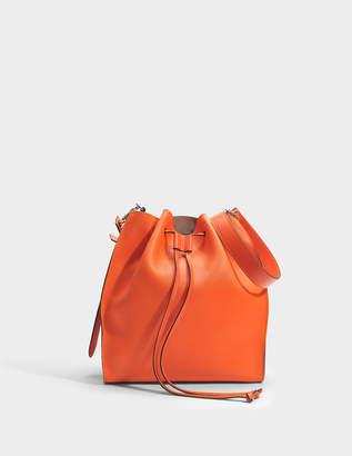 J.W.Anderson Drawstring Bag in Orange Grained Goatskin Leather