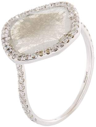 Susan Foster Diamond Slice White Gold Ring