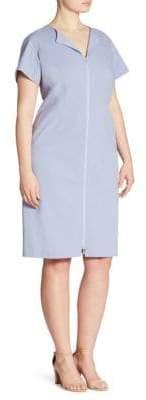 Lafayette 148 New York Plus Deja Zip-Front Dress