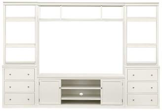 Pottery Barn Logan Media Suite with Drawer Bookcase & Bridge