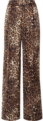 Nili Lotan Vivianna Leopard-print Silk-satin Wide-leg Pants - Leopard print