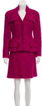 Christian Dior Mohair-Blend Skirt Suit
