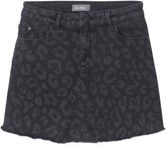 DL1961 DL 1961 Jenny Tonal Leopard-Print Skirt, Size 7-16