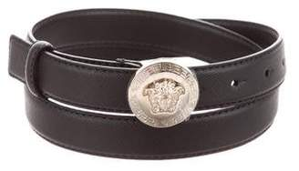 Versace Medusa Leather Belt w/ Tags