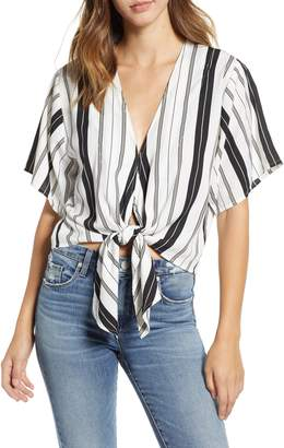 Amuse Society Bedside Manner Tie Waist Top