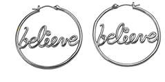Disney Silver Believe Earrings