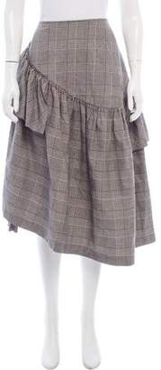 plaid belted midi skirt - Grey Loveless Clearance Perfect Clearance New Styles Free Shipping Cheap Price Sale Cheap Online Outlet Official FSKCxWEn