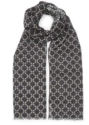 Reiss BRICKARD Geometric Wool Scarf