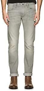 John Varvatos Men's Bowery Slim Straight Jeans-Silver