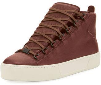 Balenciaga Men's Arena R17 Leather High-Top Sneaker $565 thestylecure.com