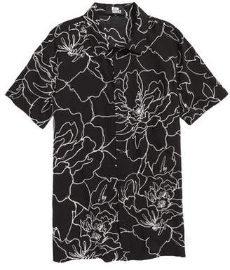 5th and Ryder Floral Print Woven Shirt