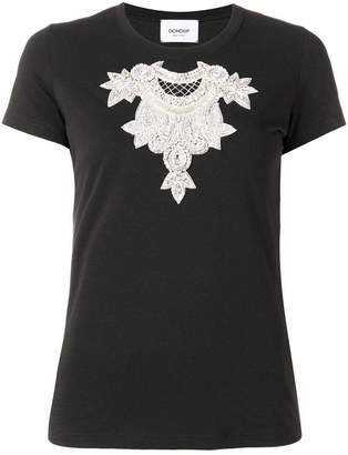 Dondup crystal embroidered T-shirt