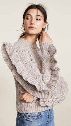 Philosophy di Lorenzo Serafini Ruffle Sleeve Sweater
