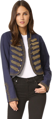 Free People Embellished Band Jacket $198 thestylecure.com