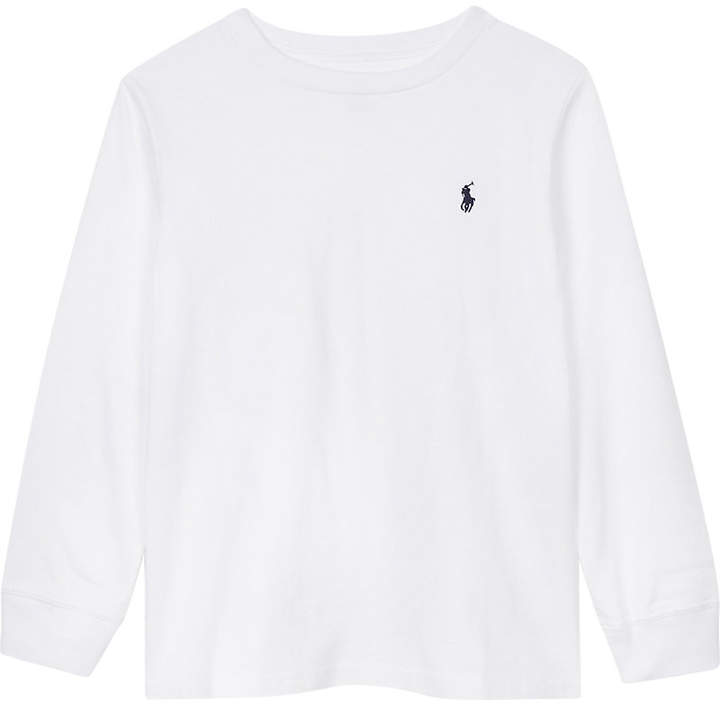 Logo cotton long-sleeved top 2-7 years