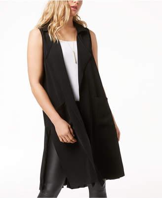Kensie Pleated Open-Front Vest