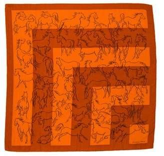 Hermes 70cm Cashmere Silk Scarf
