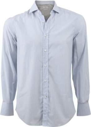 Brunello Cucinelli Mini Check Button Down Shirt