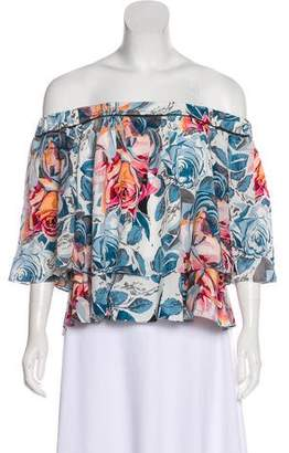 Elizabeth and James Floral Silk Top w/ Tags