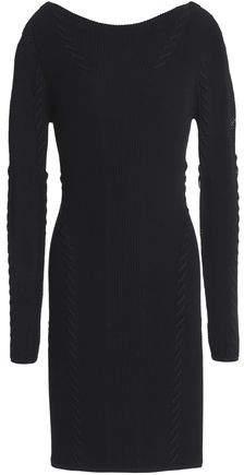 Brandy Pointelle-Trimmed Ribbed-Knit Mini Dress