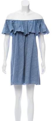 Rebecca Minkoff Off-The-Shoulder Shift Dress