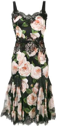 Dolce & Gabbana floral lace trimming dress