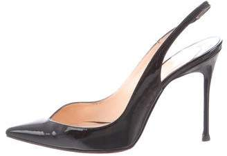 Christian Louboutin Patent Leather Pointed-Toe Slingback Pumps