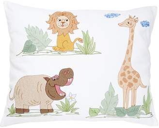 Loretta Caponi Hand Embroidered Cotton Pillow
