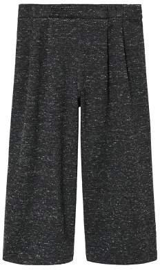 MANGO Flecked culotte trousers