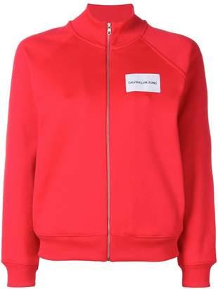 CK Calvin Klein logo patch track jacket
